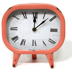 Midcentury Desk And Mantel Clocks by Stratton Home Decor