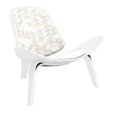 White Shell Chair Nordic Movement