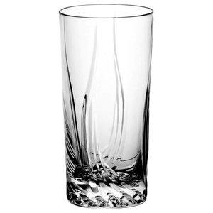 Monika Aurora Lead Crystal Highball Glasses, Set of 6