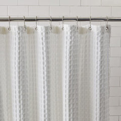 Waffle Grommet Shower Curtain · More Info