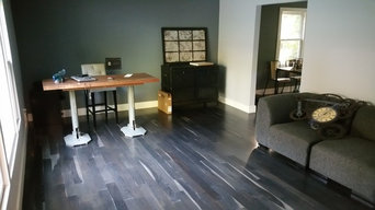 Ebonized white Oak floors