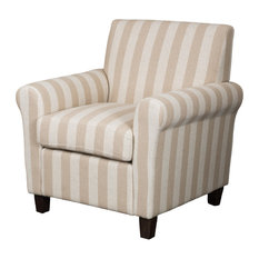 GDFStudio   Denise Austin Siracusa Club Chair, Linen Stripe   Armchairs And Accent  Chairs