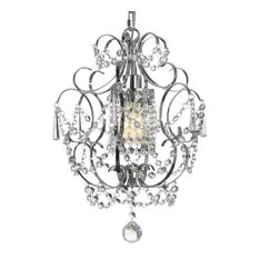 gallery gallery t40351 1 light 1 tier crystal mini chandelier with clear crystals