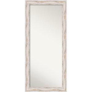 """Wall Mirror, Alexandria White wash, 26""""x57"""""""