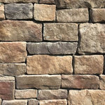 """Mountain View Stone - Lime Stone, Tuscany, 30 Sq. Ft. Flats - A classic hand chiseled stone with a distinctive embedded rough texture precisely designed to mimic quarried and cut lime stone. Lime stone is shaped for bold, traditional statements with clean contemporary lines. Its old-world appearance with rugged rectangular ashlar shapes lends itself to a wide variety of architectural styles adding elegance to any residential or commercial application. Also known as rough cut or Austin stone. Lime stone is a stone veneer product measuring 1.5"""" to 2.5"""" thick and therefore thinner than traditional stone siding for easier, lighter handling. All our manufactured stone veneer products are suitable for interior applications such as stone accent walls or stone fireplaces as well as exterior applications such as stone veneer siding. Lime stone is available in boxes of 10 square foot flats, boxes of 6 lineal foot matching corners, 150 square foot bulk crates, and samples are also available!"""