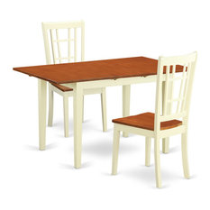 3-Piece Dining Room Set For 2 Table And 2 Chairs Buttermilk/Cherry
