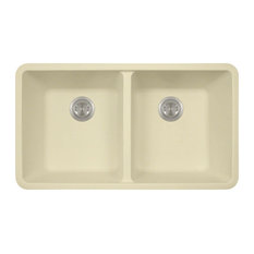 Polaris P208BE Beige Double Equal Bowl Granite Kitchen Sink