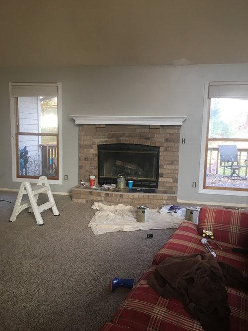 Fireplace White Wash Or German Schmear