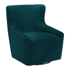 Picket House Furnishings Misha Swivel Accent Chair, Peacock
