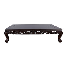 Consigned Vintage Chinese Rosewood Dragon Motif Coffee Table 17LP50