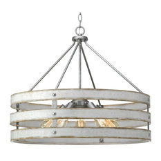 Luxury Farmhouse Pendant Light, Adelaide Series, Galvanized Steel