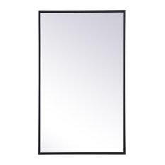 "Metal Mirror Medicine Cabinet 17""x28"", Black Finish"