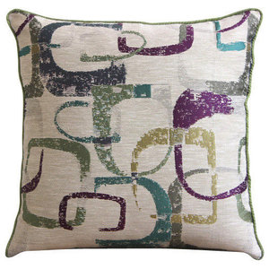 Multi Jacquard Weave 30x30 Colorful Abstract Cushions Cover, Colorful Maze