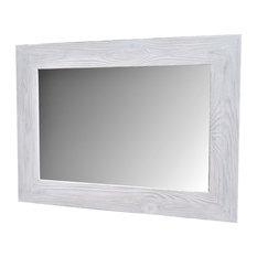 muller designs white vanity mirror handmade reclaimed wood bathroom mirrors - Rustic Bathroom Mirrors