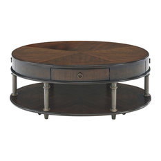 Progressive Furniture Regent Court Castered Oval Tail Table Cherry Coffee Tables