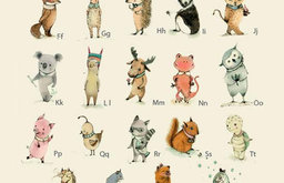 Alphabet Poster, Plenty of Animals from A to Z by Holli