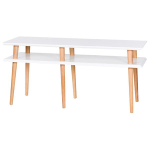 Mugo Small Scandinavian TV Stand, White