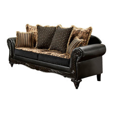 Chelsea Home   Upholstered Sofa With Toss Pillows   Sofas