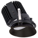 """WAC Lighting - Volta 4.5"""" LED Round Wall Wash, Light Asymmetrical 3500K White, Black Haze - Volta is the quintessential high performance LED architectural recessed downlight. Volta can be specified with variable serviceable drivers to plan your project in accordance with energy and lighting requirements up to 1,500 Lumens from a 2in aperture or up to 3,000 Lumens from the 4.5in. Available in New Construction IC Rated Airtight or Remodel Non-IC Airtight with Emergency backup battery and Chicago Plenum Safety options. Volta trims include an LED Light Engine with a replaceable High Powered LED module and are available in a variety of options including Round, Square, Adjustable, Wall Wash, Shallow Regressed, or a sleek flangeless trim which can be spackled directly up to the aperture. Tool-less in-field adjustable glare control and optic system can be used for louvers, lens, and beam control."""