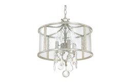 Capital Lighting 9484AS-CR Blakely 4-Light Pendant, Antique Silver