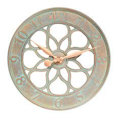 Merveilleux Whitehall Products   Medallion Clock, Copper Verdi   Outdoor Clocks