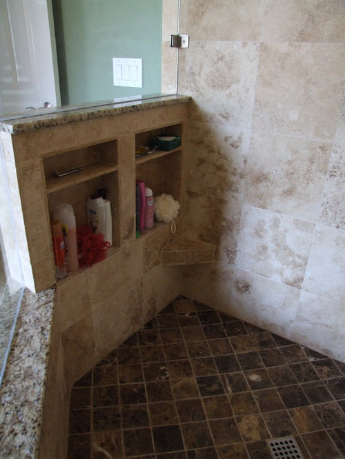 Tumbled Marble Shower Floor Home Design Ideas, Pictures, Remodel and Decor