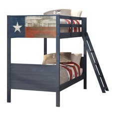 Donco Trading Co - Donco Kids Twin Over Twin Lone Star Flag Bunk Bed - Bunk Beds