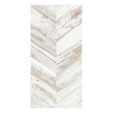 White Wash Chevron Wood Tiles, 1 m2