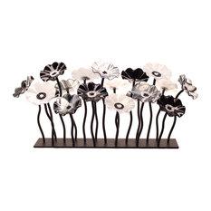 Black and White Garden Table Centerpiece