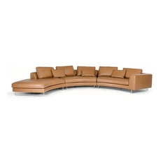 Vig Furniture Inc. - Divani Casa Tulip Modern Camel Leather Sectional Sofa - Sectional Sofas  sc 1 st  Houzz : camel sectional sofa - Sectionals, Sofas & Couches