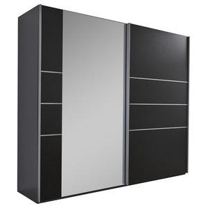 Marbella Mirror Panel Wardrobe, Black