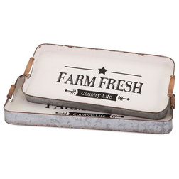 Farmhouse Serving Trays by IMAX Worldwide Home