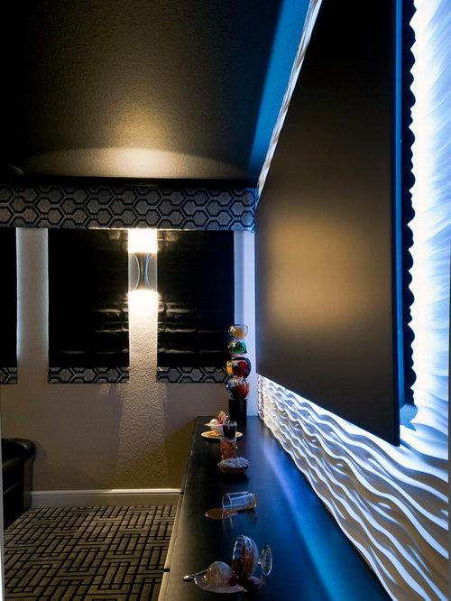 salle de cin ma moderne de taille moyenne photos et id es d co de salles de cin ma. Black Bedroom Furniture Sets. Home Design Ideas