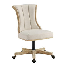 Linon Layton Corsette Back Rolling Dining Chair