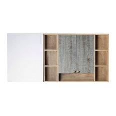 "Donatello 67""x31.5"" Surface Mount Frameless Medicine Cabinet"