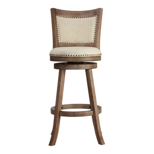 Melrose Swivel Stool Transitional Bar Stools And
