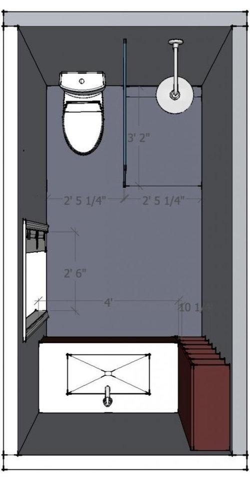 5 X 10 Bathroom Layout Help Welcome