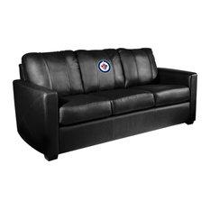 Winnipeg Jets NHL Silver Sofa
