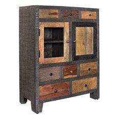 Coast To Imports Llc 8 Drawer 2 Door Cabinet Woodland