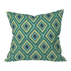 Vy La Island Diamond Outdoor Throw Pillow, 20x20x6