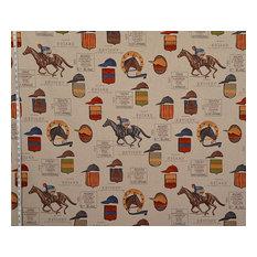 Horse Racing Fabric French Jockey Document Script, Standard Cut