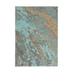 Casa Marble Rug, Blue and Gray, 1