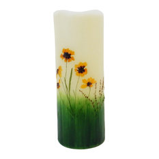 """Wildflower Flameless Candle, 3""""x8"""""""