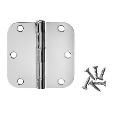 "Cosmas Polished Chrome Door Hinge 3.5"" With 5/8"" Radius Corners"