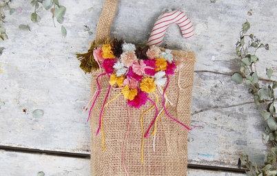 Holiday DIY: Handmade Ring Holder and Pompom-Embellished Stocking