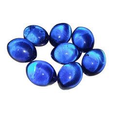 "1 Pound Bag 1"" Dark Blue Glass Footballs"