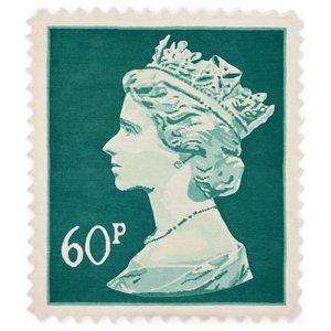 Mint Green 60p Stamp Rug, 100x120 cm