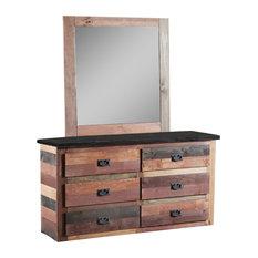 6-Drawer Dresser With Jumbo Mirror Multi-Color 31MC96-51J