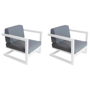 Outdoor Alhama Chairs, Set of 2, White