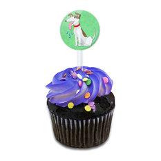 Greatful Greyhound Cupcake Toppers Picks Set